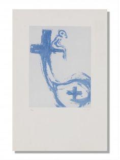VICTOR MIRA (1949 - 2003) Titel nicht bekannt Lithographie, 50/50 H 57 cm. B 37 cm.   Provenienz: - Galerie Marie Louise Wirth, Zürich. - Schweizer Privatsammlung.  Signiert. Basel, Contemporary Art, Modern, Contemporary Artwork, Swiss Guard, Auction, Modern Art