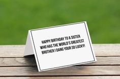Birthday Card For Sister,Funny Sister Birthday Card,Birthday card from Brother,Sister Birthday Card,Sister Birthday Gift,Funny Birthday