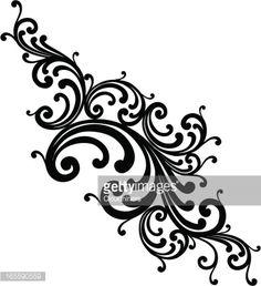 Vector Art : Scroll Cluster