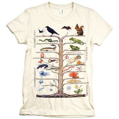 Vintage Animal Tree Science Shirt