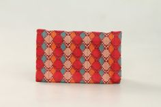 Nepal dhaka small clutch  Brick design by SareeSarong on Etsy