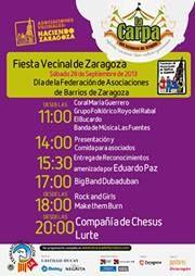 Fiesta vecinal de Asociaciones de Barrios de Zaragoza en la Carpa del ternasco