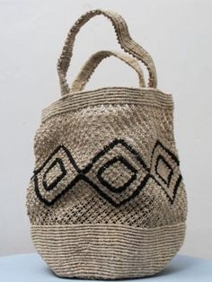 woven tote bag with patterns
