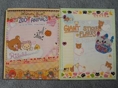 page 6 is zoo animals and page 7 is giant sticker flakes