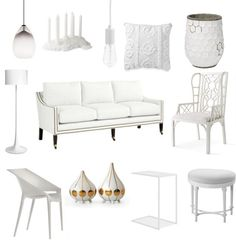 white furniture and accents