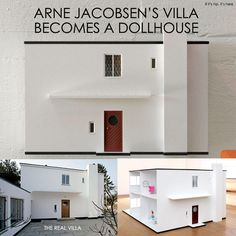 New Modern Dollhouse is a Reproduction Of Arne Jacobsen's Own 1928 Villa