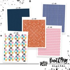 Place of Grace Patterned Paper Bundle - Illustrated Faith 50 Words, Word Nerd, Faith Bible, Illustrated Faith, Pattern Paper, Paper Design, Scrapbook Paper, Notes, Quilts