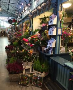 Flowery shop in the old market in Finland.