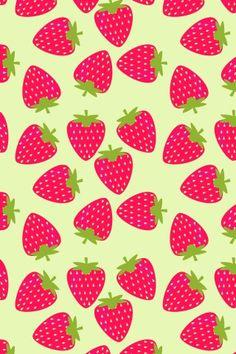 Image via We Heart It https://weheartit.com/entry/128260484/via/11210647 #art #colorful #cute #green #iphone #ipod #kawaii #patterns #pink #strawberries #wallpapers #backgrounds #bg #ipad #homescreen