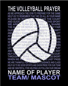 Volleyball prayer