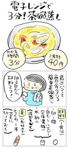【1食約40円】電子レンジで3分!白だしでやさしい味の茶碗蒸し : おひとりさまのあったか1ヶ月食費2万円生活