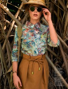 Take an Adventure soon and wear those tropical prints you have been afraid to try....Jalouse April 2013