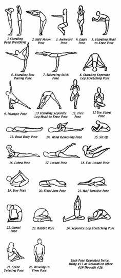 Bikrams Hot Hatha Yoga postures