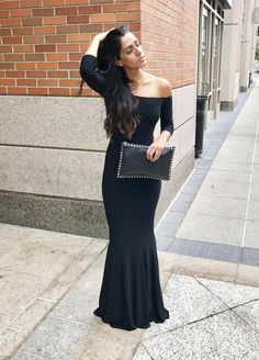 Norma Kamali Off The Shoulder Fishtail Gown - The Perfect Dress For A Black Tie Affair