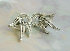 Vintage Silver Earrings Clip On Costume by VikisVarietyCraft, $12.00