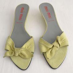 Miu Miu Sandals, 40 via suzy's closet.