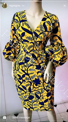 I'll love to sew this wrap dress – African Fashion Dresses Remilekun - African Styles for Ladies African Fashion Designers, African Print Fashion, Africa Fashion, African Print Dresses, African Fashion Dresses, African Dress, African Prints, Ghanaian Fashion, African Clothes