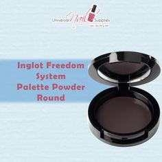Freedom System Palette Powder Round Matte  The Freedom System Palettes come in a range of sizes and for a range of products. A magnetic layer on the bottom of the palette holds pans in place, but also allows you to rearrange and exchange each item for convenience and easy product replenishment.