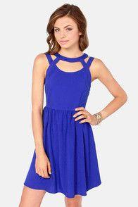 SG-ASWKOATR - Sleeveless Navy-Blue Short Handkerchief Dress