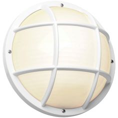 Basement and laundry room lights  Newport Coastal 10.25 in. Outdoor White Incandescent Nautical Flush-Mount Light-7971-02W at The Home Depot