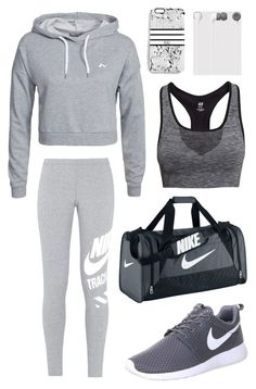"""Sporty look 2"" by krisstinak ❤ liked on Polyvore featuring NIKE, H&M, Only Play and Rianna Phillips"
