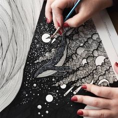 Illustrator Meni Chatzipanagiotou creates beautiful, nature-inspired ink drawings that are full of captivating details. drawing Stunning Black and White Illustrations Will Fill Your Soul with the Art of Nature Black And White Art Drawing, Black Paper Drawing, Black And White Illustration, Black Ink Art, Ink Pen Drawings, Ink Pen Art, Plant Drawing, Ink Illustrations, Illustration Art