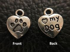 This is a CHARMING addition to your purchase. Choose from a variety of different charms to match you and your dogs personality and style. Additional charms for dog friendship key ring bracelets or pet collars will give you a little extra sparkle.  Metal Charms can be attached to your pets collar or your friendship key ring bracelet: http://etsy.me/2kkM99V Comes with small metal split key ring Includes 1 metal charm of your choice