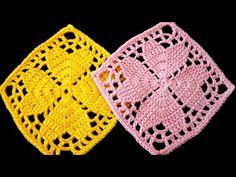 6 Best Hip Exercises for Women Health : Sport for Women in 2020 - Frau Crochet Flower Squares, Crochet Flower Tutorial, Crochet Square Patterns, Crochet Flowers, Crochet Shawl, Crochet Doilies, Crochet Stitches, Baby Knitting Patterns, Free Pattern