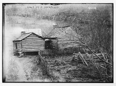 Log cabins, home of a moonshiner, July, 1909
