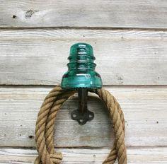 Vintage Industrial Insulator Coat Hook by AuroraMills, $35.00