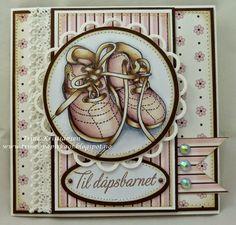 Trines-papirkaos Baby Cards, I Card, Handmade Cards, 2d, Scrapbooking, Stamp, Children, Inspiration, Image