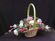 Flower arrangement on Pinterest | Baskets, Flower Arrangements and ...