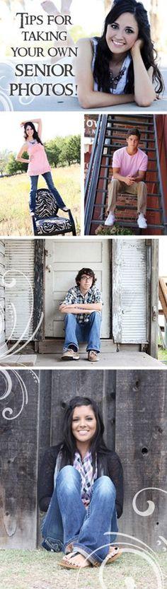 Tips for taking your own senior photos - DIY senior pictures