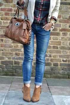 Flannel, sweater and jeans.. Love!