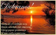 Kartka pod tytułem Bajecznych Snów! Dobranoc! Good Night, Celestial, Sunset, Cards, Movie Posters, Outdoor, Beautiful, Aga, Messages