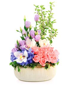 Gift Ideas - Easter Flowers: Flower Vase - Roses, Hydrangeas and Orchids! Easter Flowers, Mothers Day Flowers, Flowers Singapore, Order Flowers Online, Hydrangeas, Amazing Flowers, Flower Vases, Bouquets, Orchids