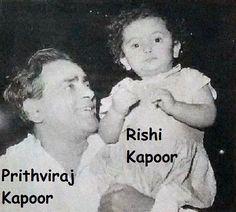 "7 Likes, 1 Comments - muvyz.com (@muvyz) on Instagram: ""#muvyz072717 #BollywoodFlashback #prithvirajkapoor #rishikapoor #grandfather #grandson #photo…"" Randhir Kapoor, Rishi Kapoor, Rare Pictures, Rare Photos, Vintage Bollywood, Actor Model, Bollywood Stars, Deepika Padukone, Family Pics"