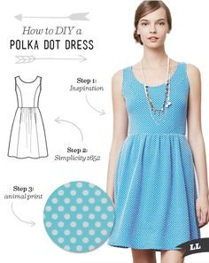 Lula Louise: How to DIY – Polka Dot Dress