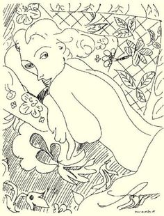 Matisse Drawing - date undetermined - 1925 or 1935!