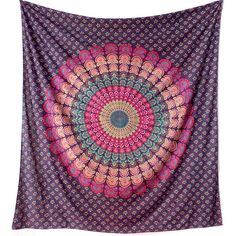 Cotton Large Fabric Mandala Hippy Wall Hanging Bohemian Hippie Bedding... ($17) ❤ liked on Polyvore featuring home, bed & bath, bedding, fabric bedding, tapestry bedding, textile bedding, cotton bedding and cotton bed linen