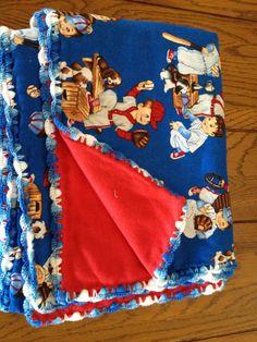 Baseball kids baby blanket