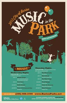 SAVE THE DATES: Music in the Park will be held in 2 Locations; Starts July 12   B-Town Blog