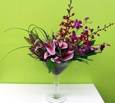 flower designs in cocktail glass - Google Search