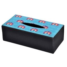 Peacock Repeat Tissue Box Holder by The Elephant Company