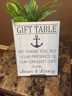 Wedding gift table sign by KerriArt on Etsy, $22.00 | Weddings ...