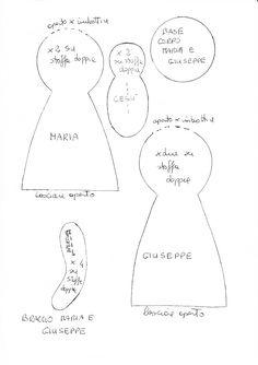 Risultati immagini per cartamodello campana feltro for Cartamodello papillon
