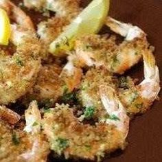 Roasted shrimp with garlic and lemon....maybe the best way to eat shrimp.  ever.