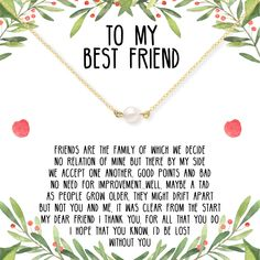 Christmas Gift for Best Friend: Present, BFF Necklace, Best Friend Gift Jewelry,… – presents for boyfriend birthday