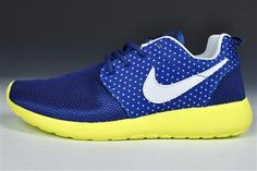 Nike Roshe Run Blue Yellow Women's Running Shoes - Women's Roshe Run Shoes.... Just bought these!