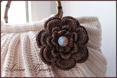 2a9b360a1a How to Crochet Beautiful Handbag with Rose Decor - DIY Tutorials
